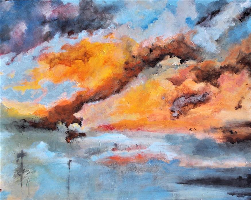 Original art for sale at UGallery.com | Himmel Fest by Benjamin  Thomas | $2,375 | acrylic painting | 32' h x 40' w | ..\art\acrylic-painting-Himmel-Fest