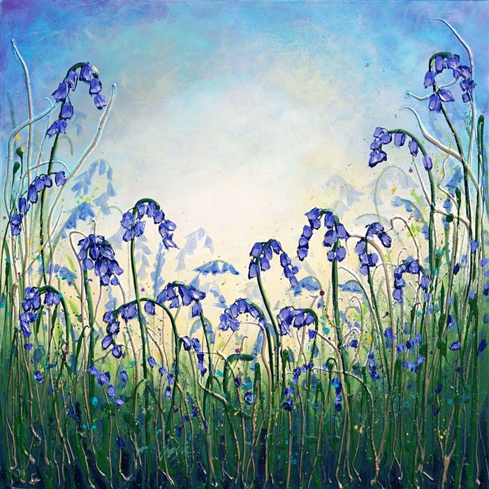 Original art for sale at UGallery.com | Bluebell Dance by Amanda Dagg | $650 | acrylic painting | 24' h x 24' w | ..\art\acrylic-painting-Bluebell-Dance