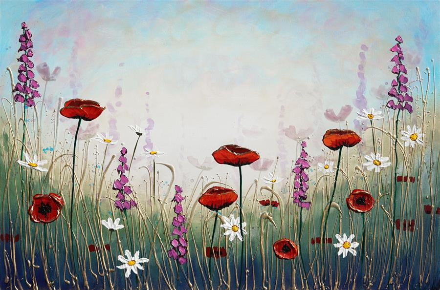 Original art for sale at UGallery.com   Garden of Flowers by Amanda Dagg   $950   acrylic painting   24' h x 36' w   ..\art\acrylic-painting-Garden-of-Flowers-71847