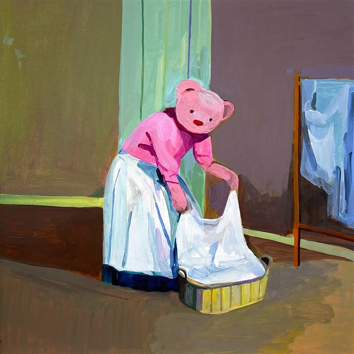 Original art for sale at UGallery.com | Lady Bear by Ziui Vance | $500 | acrylic painting | 12' h x 12' w | ..\art\acrylic-painting-Lady-Bear