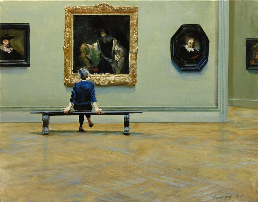 Original art for sale at UGallery.com   Contemplation by Onelio Marrero   $1,000   oil painting   16' h x 20' w   ..\art\oil-painting-Contemplation-71889