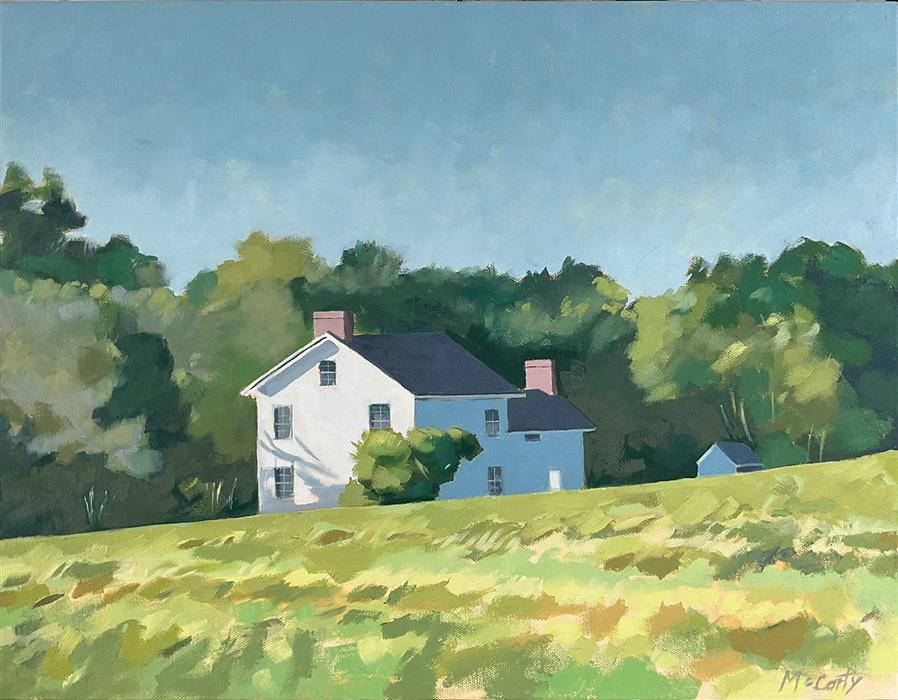 Original art for sale at UGallery.com   House in Field by Brian McCarty   $400   oil painting   16' h x 20' w   ..\art\oil-painting-House-in-Field