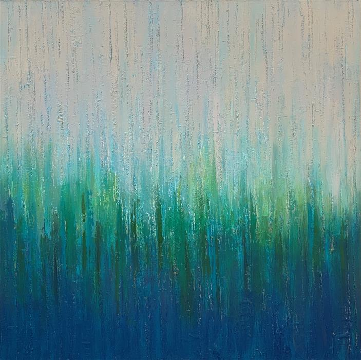 Original art for sale at UGallery.com   Karma by Janet Hamilton   $3,575   oil painting   40' h x 40' w   ..\art\oil-painting-Karma