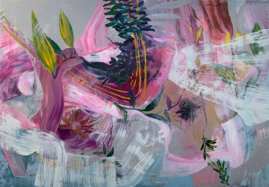 Original art for sale at UGallery.com | Life Force by Julia Hacker | $6,525 | acrylic painting | 42' h x 60' w | ..\art\acrylic-painting-Life-Force-71921