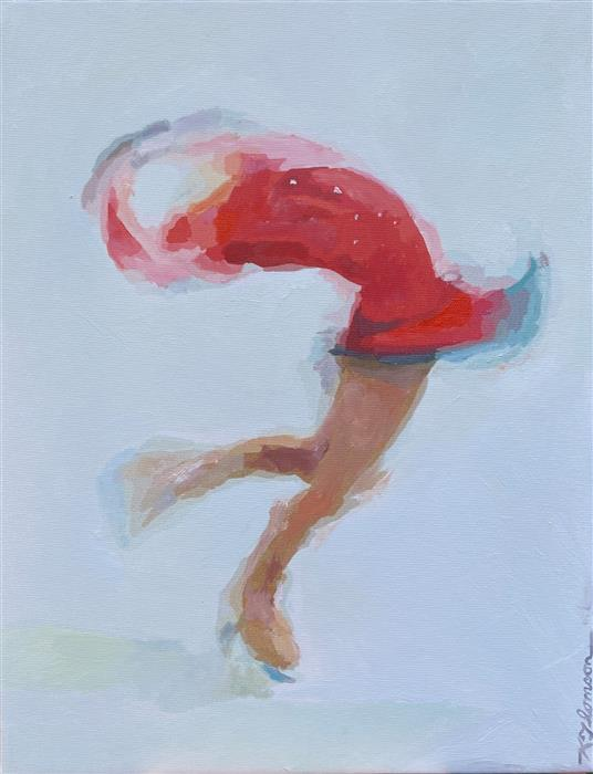 Original art for sale at UGallery.com   Figurative Skater by Keith Thomson   $575   mixed media artwork   13' h x 10' w   ..\art\mixed-media-artwork-Figurative-Skater