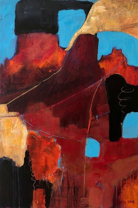 Original art for sale at UGallery.com | Finding Our Way by Jodi  Dann | $1,425 | mixed media artwork | 36' h x 24' w | ..\art\mixed-media-artwork-Finding-Our-Way