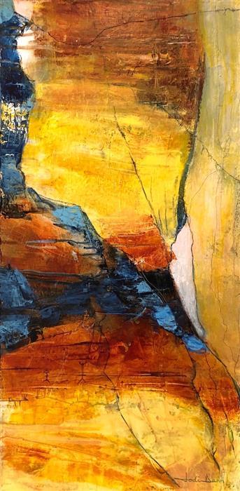 Original art for sale at UGallery.com | Cave Writings by Jodi  Dann | $625 | mixed media artwork | 24' h x 12' w | ..\art\mixed-media-artwork-Cave-Writings