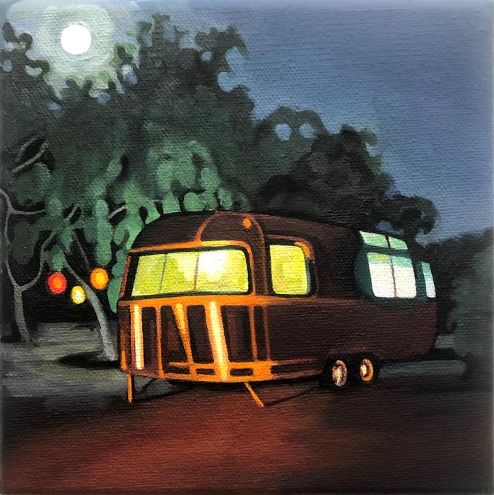 Original art for sale at UGallery.com   Airstream of Panoche by Hadley Northrop   $275   oil painting   6' h x 6' w   ..\art\oil-painting-Airstream-of-Panoche