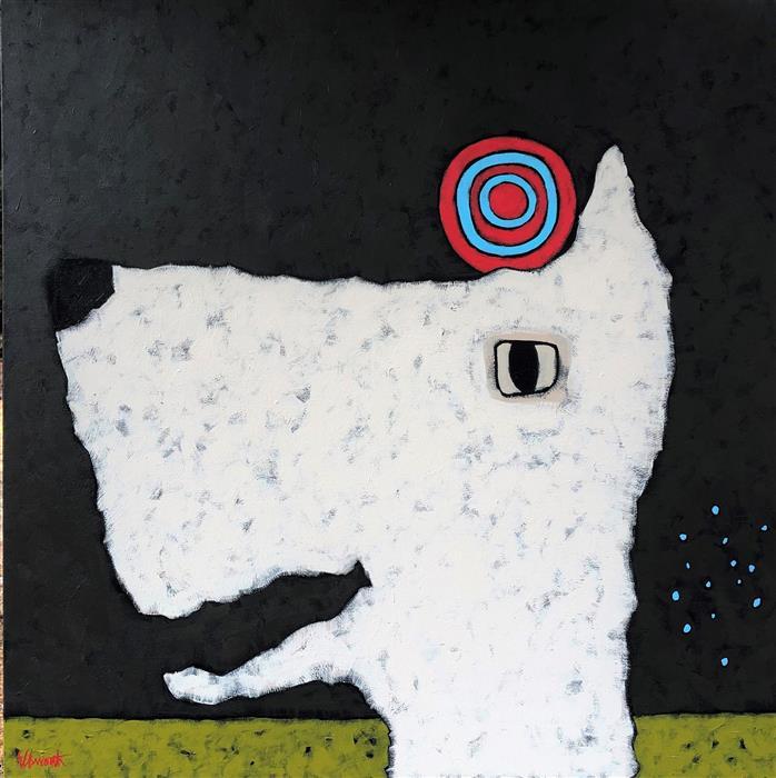 Original art for sale at UGallery.com   Croquet by Jaime Ellsworth   $2,250   oil painting   36' h x 36' w   ..\art\oil-painting-Croquet