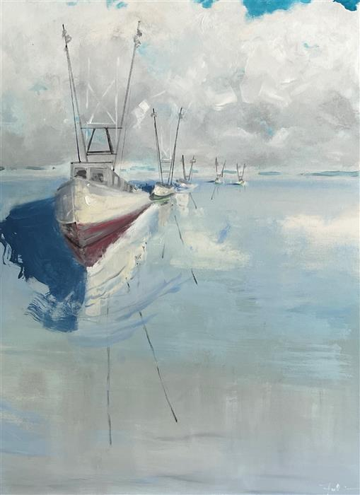 Original art for sale at UGallery.com | Homeward Bound by Patricia Fabian | $2,200 | acrylic painting | 40' h x 30' w | ..\art\acrylic-painting-Homeward-Bound-72012