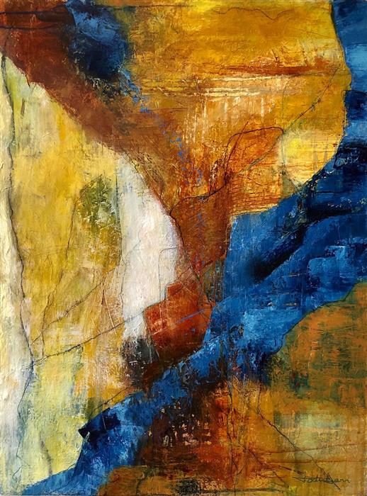 Original art for sale at UGallery.com   Just Around The Bend by Jodi  Dann   $725   mixed media artwork   24' h x 18' w   ..\art\mixed-media-artwork-Just-Around-The-Bend