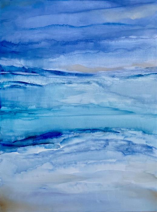 Original art for sale at UGallery.com | Ethereal Mist by Alicia Dunn | $1,800 | acrylic painting | 40' h x 30' w | ..\art\acrylic-painting-Ethereal-Mist