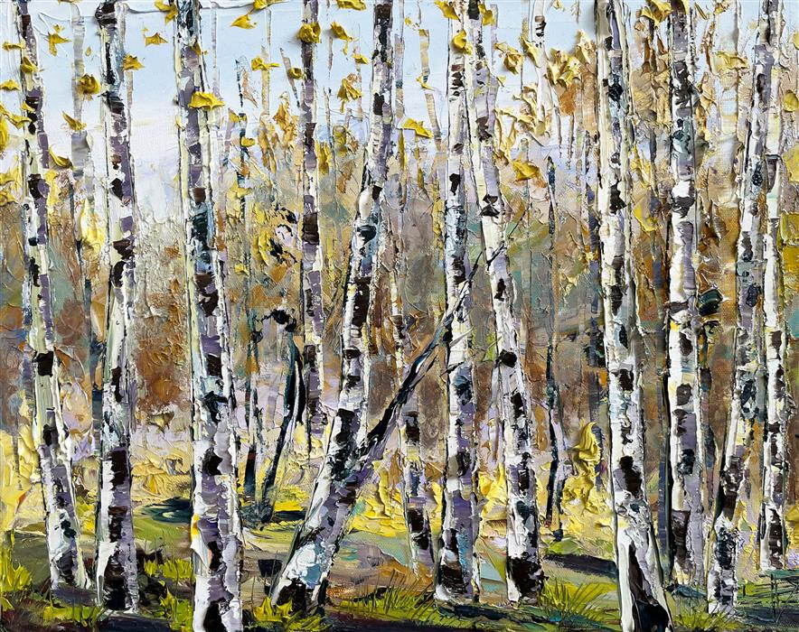 Original art for sale at UGallery.com   Fall to Autumn by Lisa Elley   $700   oil painting   16' h x 20' w   ..\art\oil-painting-Fall-to-Autumn