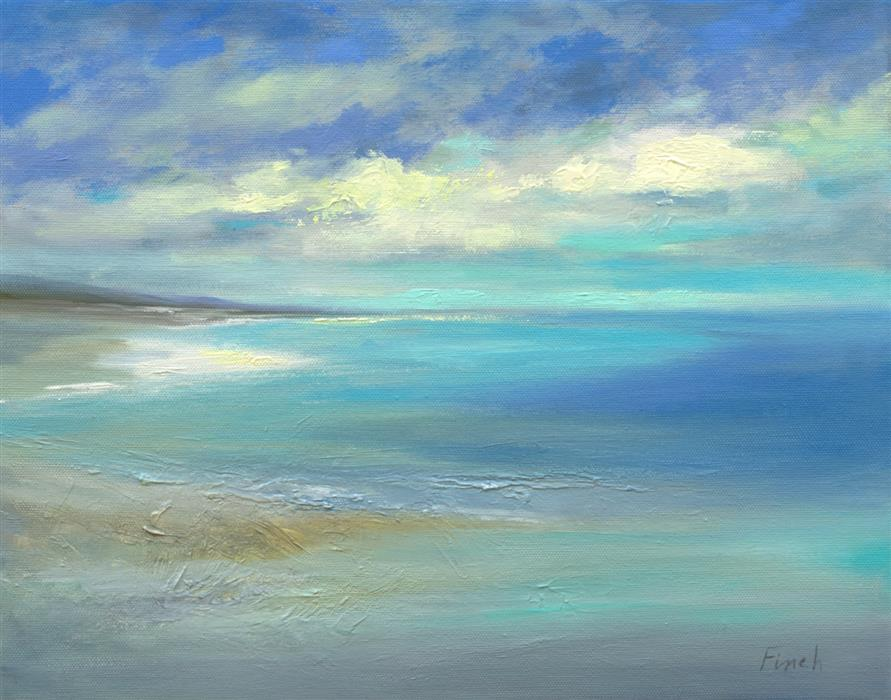 Original art for sale at UGallery.com   Blue Skies by Sheila Finch   $900   oil painting   11' h x 14' w   ..\art\oil-painting-Blue-Skies