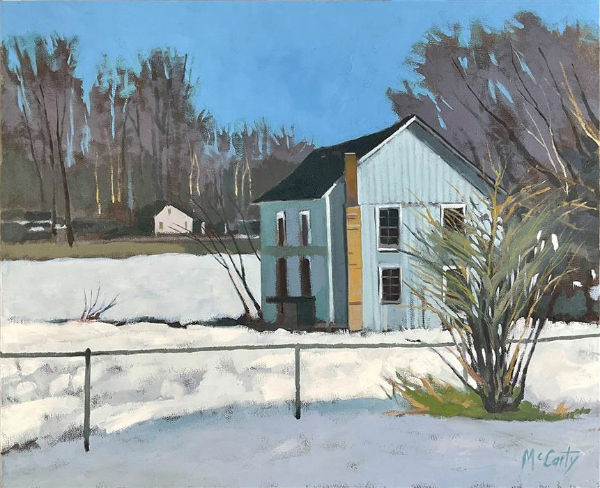 Original art for sale at UGallery.com   House with Chimney by Brian McCarty   $550   oil painting   20' h x 24' w   ..\art\oil-painting-House-with-Chimney