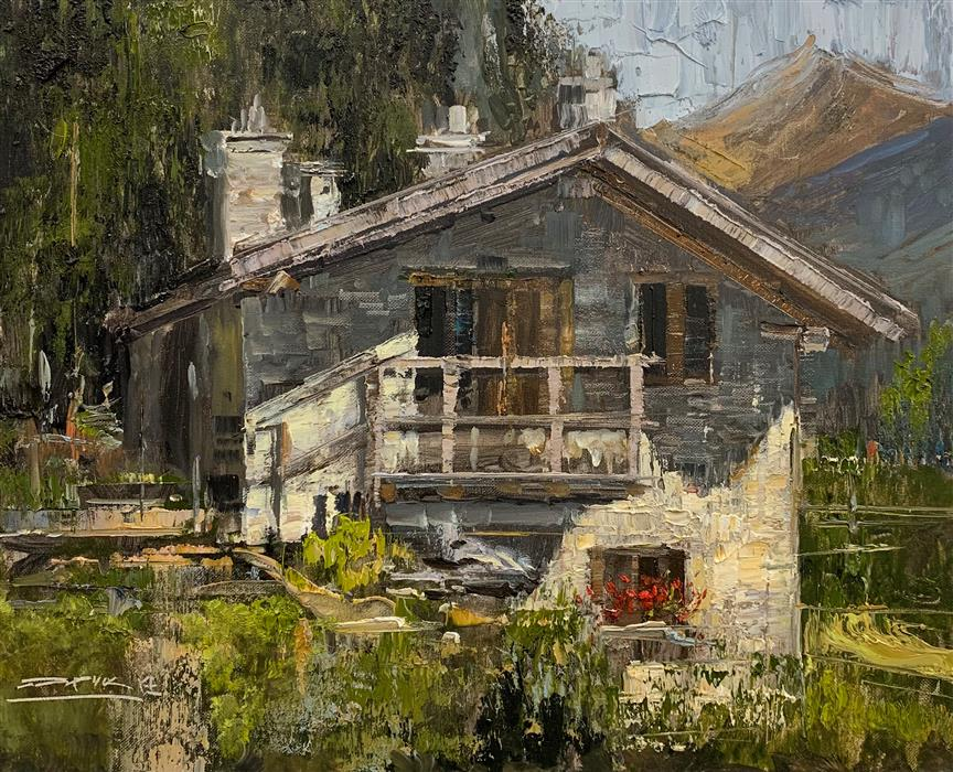 Original art for sale at UGallery.com   Life at the Country by Eric Alfaro   $800   oil painting   16' h x 20' w   ..\art\oil-painting-Life-at-the-Country