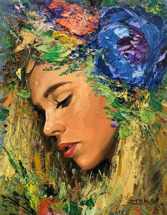 Original art for sale at UGallery.com   Amaia by Eric Alfaro   $800   oil painting   20' h x 16' w   ..\art\oil-painting-Amaia