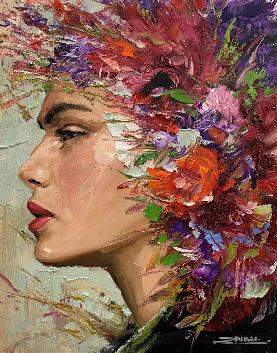 Original art for sale at UGallery.com   Dafne by Eric Alfaro   $800   oil painting   20' h x 16' w   ..\art\oil-painting-Dafne