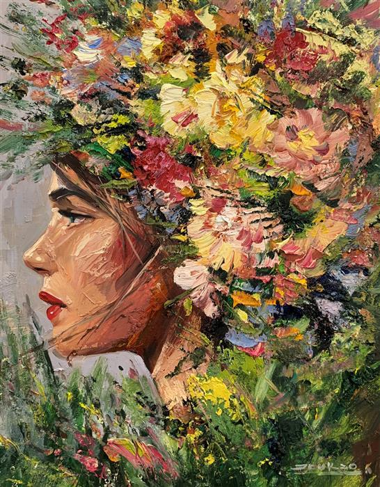 Original art for sale at UGallery.com   Irene by Eric Alfaro   $800   oil painting   20' h x 16' w   ..\art\oil-painting-Irene