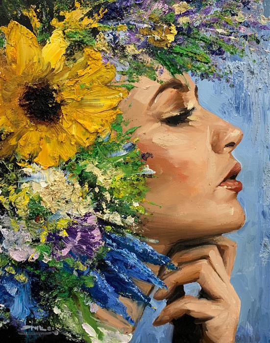 Original art for sale at UGallery.com   Claudia by Eric Alfaro   $800   oil painting   20' h x 16' w   ..\art\oil-painting-Claudia