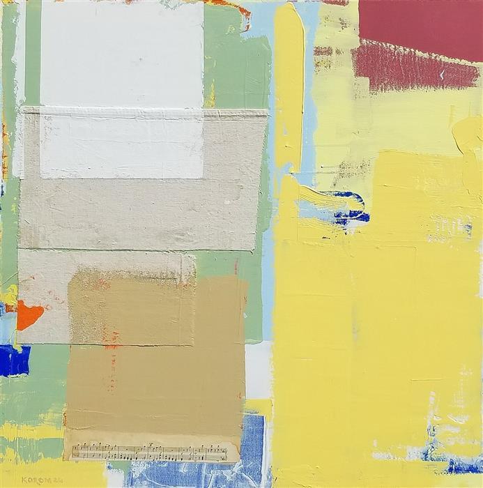 Original art for sale at UGallery.com | Fields of Plenty by Joey Korom | $1,200 | mixed media artwork | 30' h x 30' w | ..\art\mixed-media-artwork-Fields-of-Plenty