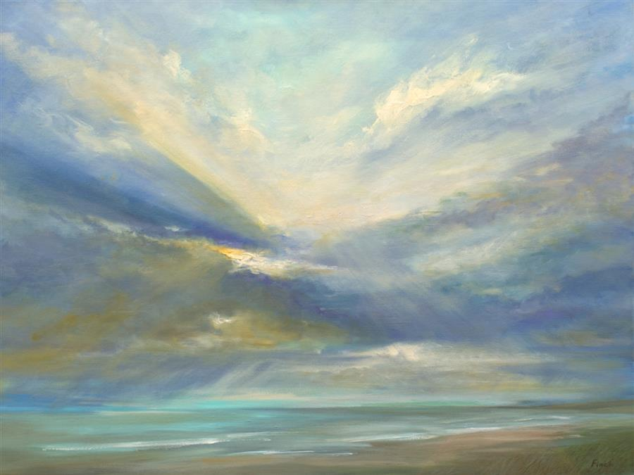 Original art for sale at UGallery.com   Heavenly Light V by Sheila Finch   $4,200   oil painting   36' h x 48' w   ..\art\oil-painting-Heavenly-Light-V