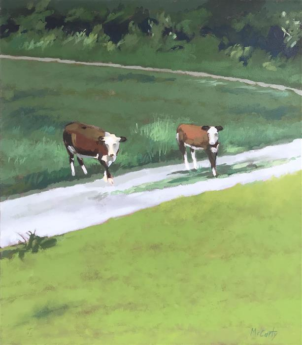 Original art for sale at UGallery.com | Crossing by Brian McCarty | $550 | oil painting | 24' h x 20' w | ..\art\oil-painting-Crossing-72102