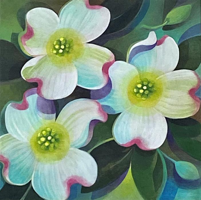 Original art for sale at UGallery.com | Dogwood by Johnny Karwan | $475 | acrylic painting | 12' h x 12' w | ..\art\acrylic-painting-Dogwood-72114