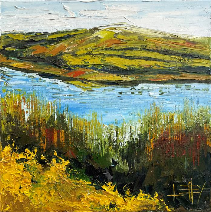 Original art for sale at UGallery.com | Autumn With Monet by Lisa Elley | $425 | oil painting | 12' h x 12' w | ..\art\oil-painting-Autumn-With-Monet