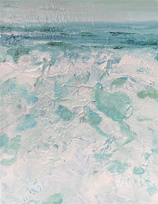 Original art for sale at UGallery.com   Sea Foam Mosaic by Patricia Fabian   $700   acrylic painting   14' h x 11' w   ..\art\acrylic-painting-Sea-Foam-Mosaic