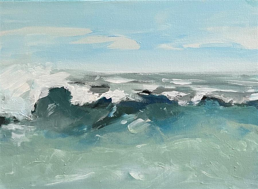Original art for sale at UGallery.com | Surfside by Patricia Fabian | $900 | acrylic painting | 12' h x 16' w | ..\art\acrylic-painting-Surfside