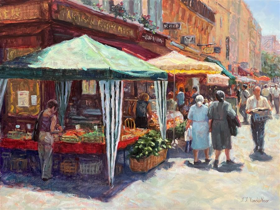 Original art for sale at UGallery.com | Le Marche by Faye Vander Veer | $2,600 | oil painting | 18' h x 24' w | ..\art\oil-painting-Le-Marche