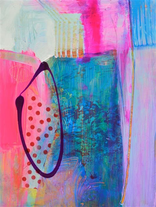 Original art for sale at UGallery.com   Ethereal Abstraction with Pink by Patrick O'Boyle   $275   mixed media artwork   12' h x 9' w   ..\art\mixed-media-artwork-Ethereal-Abstraction-with-Pink