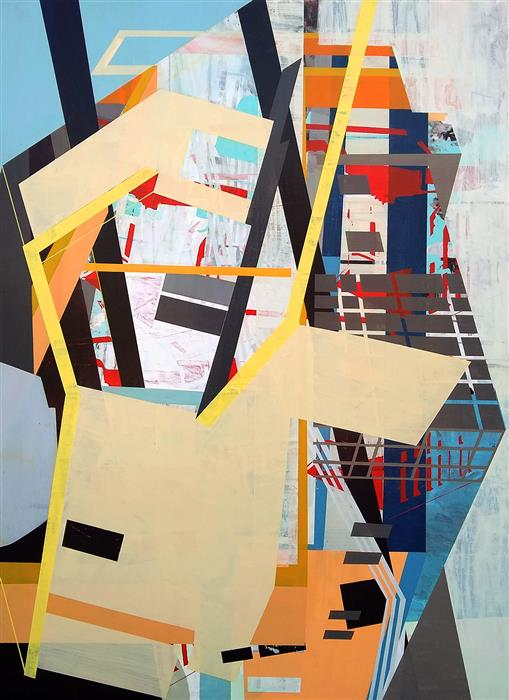 Original art for sale at UGallery.com   Consensus of the Mediocre by Linnie Brown   $3,100   mixed media artwork   44' h x 32' w   ..\art\mixed-media-artwork-Consensus-of-the-Mediocre