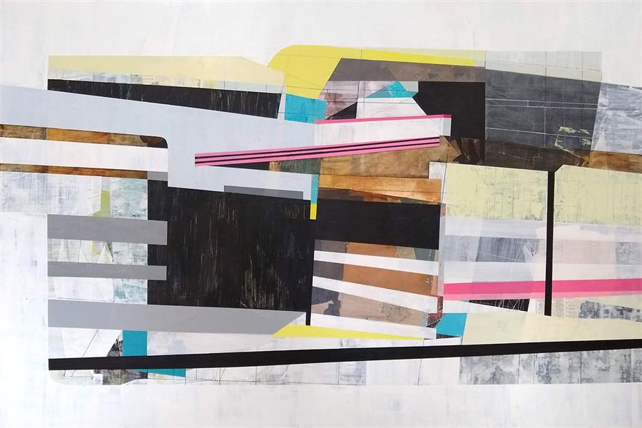 Original art for sale at UGallery.com   Search for the Perimeter by Linnie Brown   $3,400   mixed media artwork   32' h x 48' w   ..\art\mixed-media-artwork-Search-for-the-Perimeter