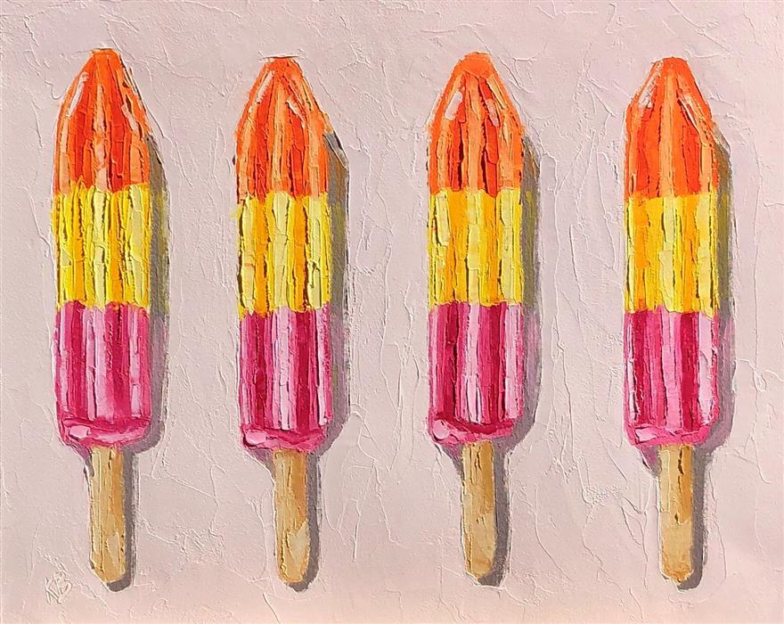 Original art for sale at UGallery.com | Just Add Sunshine by Karen Barton | $300 | oil painting | 9.5' h x 12' w | ..\art\oil-painting-Just-Add-Summer
