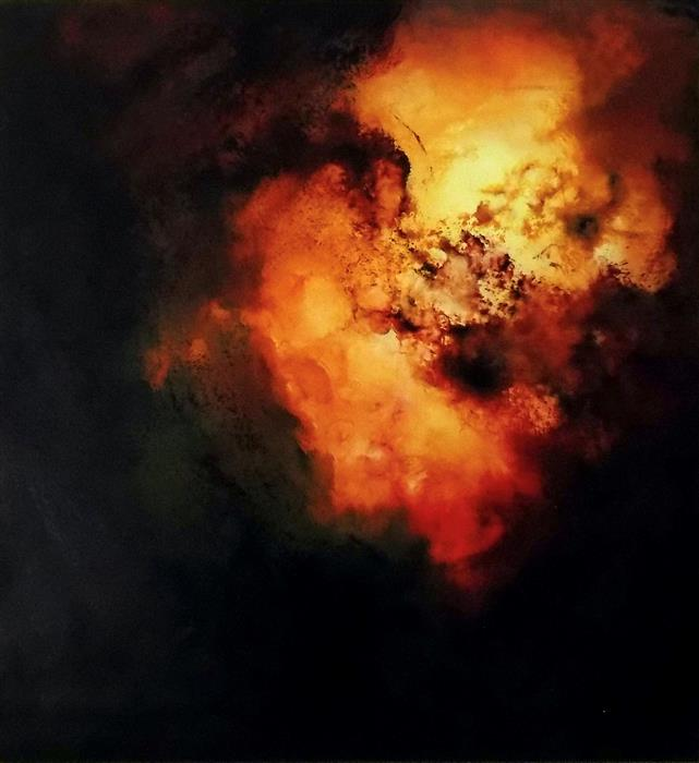 Original art for sale at UGallery.com | Aperture - Doom by Wes Sumrall | $2,000 | oil painting | 28' h x 26' w | ..\art\oil-painting-Aperture-Doom