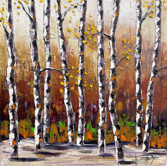 Original art for sale at UGallery.com | Fall Escape by Lisa Elley | $850 | oil painting | 20' h x 20' w | ..\art\oil-painting-Fall-Escape