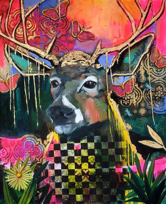 Original art for sale at UGallery.com | Beautifully Vibrant by Scott Dykema | $7,500 | mixed media artwork | 60' h x 48' w | ..\art\mixed-media-artwork-Beautifully-Vibrant