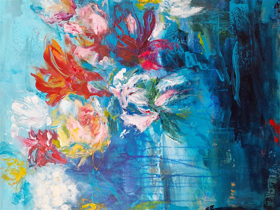 Original art for sale at UGallery.com   Promises by Hilma Koelman   $1,800   acrylic painting   30' h x 24' w   ..\art\acrylic-painting-Promises-72227