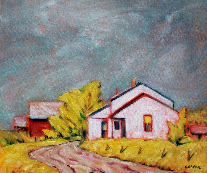 Original art for sale at UGallery.com   After the Rain, Tennessee Tobacco Farm by Doug Cosbie   $350   oil painting   10' h x 12' w   ..\art\oil-painting-After-the-Rain-Tennessee-Tobacco-Farm