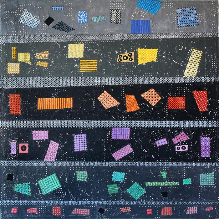 Original art for sale at UGallery.com   Transition Patterns by Terri Bell   $600   mixed media artwork   18' h x 18' w   ..\art\mixed-media-artwork-Transition-Patterns
