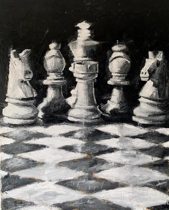 Original art for sale at UGallery.com | Your Move by Nava Lundy | $4,800 | acrylic painting | 50' h x 40' w | ..\art\acrylic-painting-Your-Move