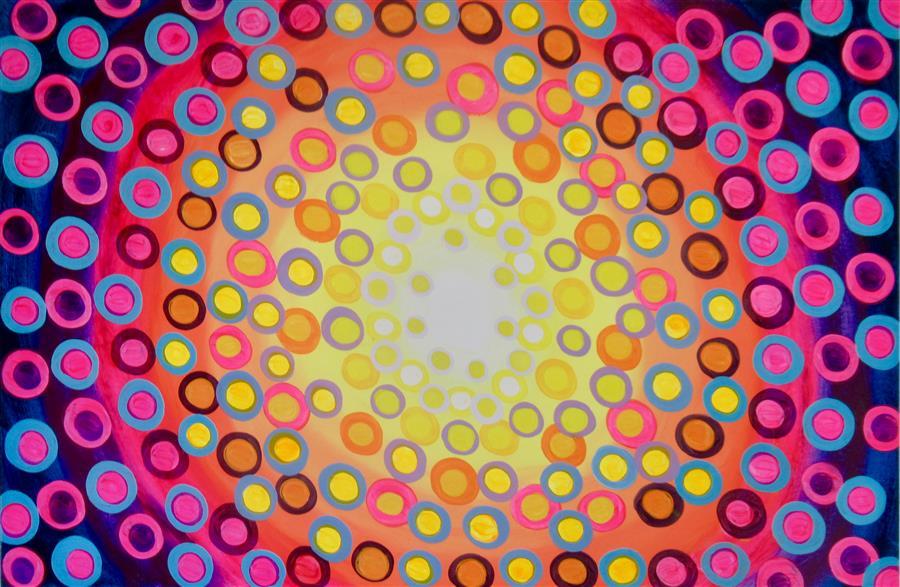 Original art for sale at UGallery.com | Kaleidoscope 3 by Natasha Tayles | $800 | acrylic painting | 24' h x 36' w | ..\art\acrylic-painting-Kaleidoscope-3