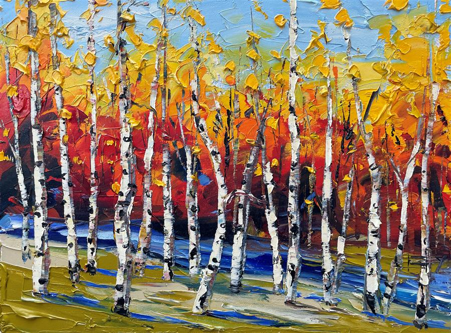 Original art for sale at UGallery.com | Autumn Hues by Lisa Elley | $675 | oil painting | 12' h x 16' w | ..\art\oil-painting-Autumn-Hues-72317