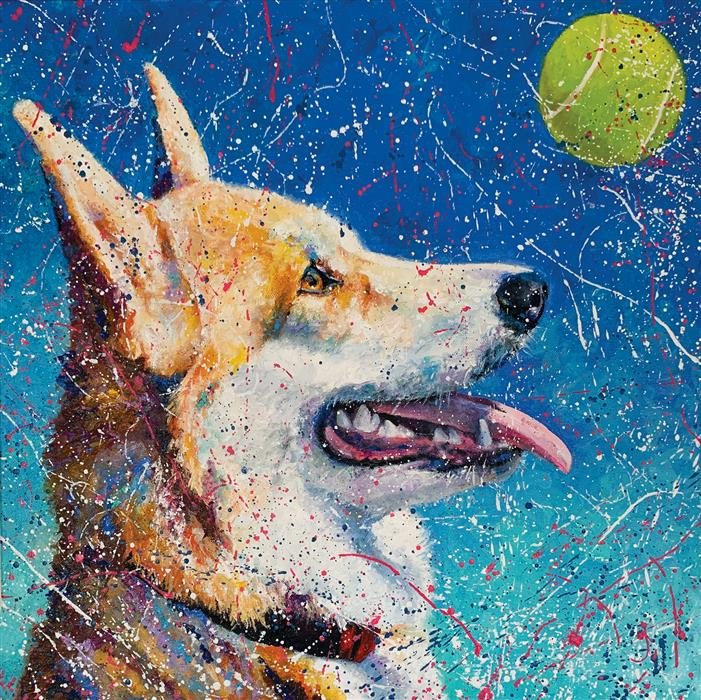 Original art for sale at UGallery.com   Serena by Jeff Fleming   $600   oil painting   20' h x 20' w   ..\art\oil-painting-Serena