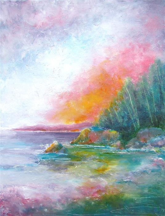 Original art for sale at UGallery.com   Morning Has Broken by Valerie Berkely   $475   oil painting   24' h x 18' w   ..\art\oil-painting-Morning-Has-Broken-72347