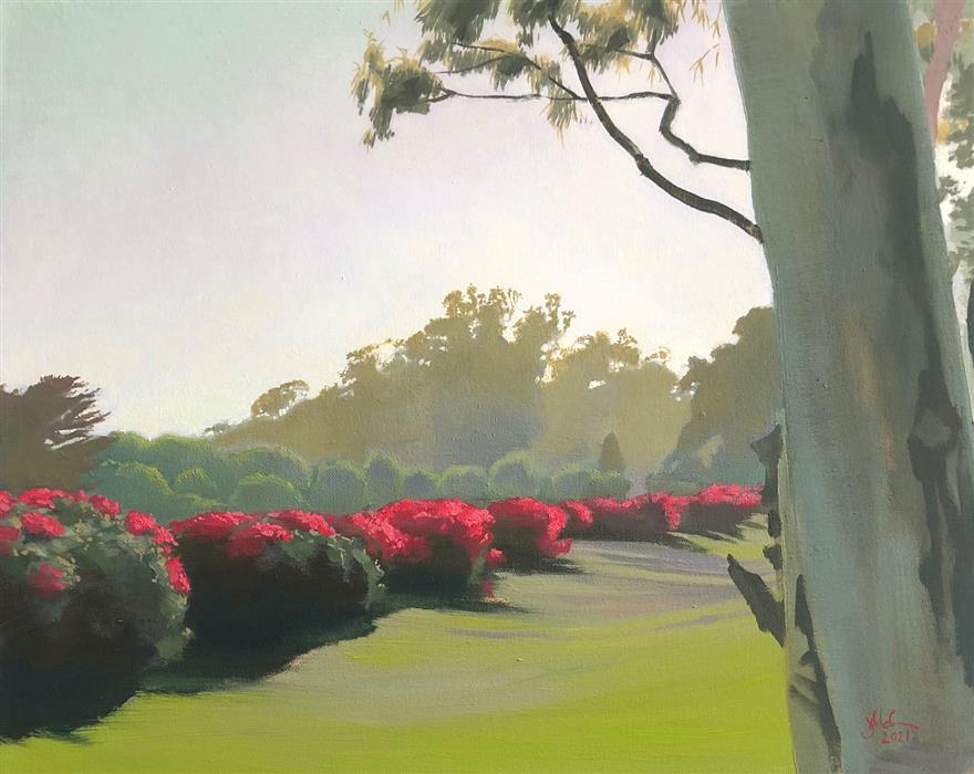 Original art for sale at UGallery.com | One Fine Afternoon by Jesse Aldana | $725 | oil painting | 16' h x 20' w | ..\art\oil-painting-One-Fine-Afternoon