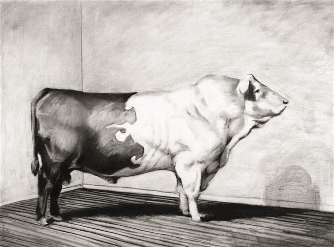 Original art for sale at UGallery.com | Trophy 3 by Russ Noto | $625 | archival print | 18' h x 24' w | http://www.ugallery.com/charcoal-drawing-trophy-3