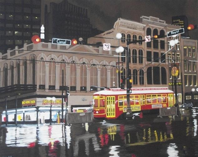 Original art for sale at UGallery.com | New Orleans in the Rain by Patricia Freeman | $600 | acrylic painting | 18' h x 24' w | http://www.ugallery.com/acrylic-painting-new-orleans-in-the-rain